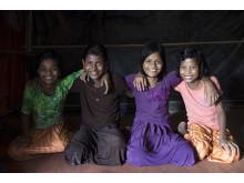 Vänskap viktigt för flickor i Rohingyakrisen
