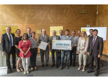 "Foto: Preisträger: Sportverein Fatschenbrunn aus Oberaurach, Projekt: ""Fatschis haben Energie"""