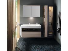 burgbad verbreitet mit seiner neuen Kollektion Yumo im Bad echte Wohnzimmer-Atmosphäre.