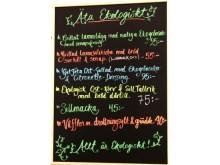 Helekologisk meny på Kör Eko´s restaurang
