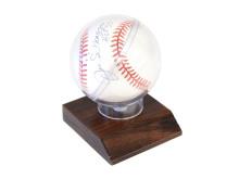 Memorabilia Sportlegender 5/6, Nr: 16, MATCHBOLL, Baseball, Joe Dimaggio, med autograf