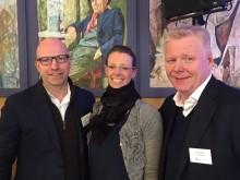 Styreleder Gunnar G. Nybø og to nyvalgte styremedlemmer: Tine Birkeland og Tron Mathisen