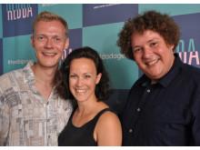 Preben Hodneland, Ingeborg Sundrehagen Raustøl og Kristoffer Olsen