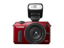 Canon EOS M Röd Framifrån