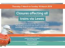 Lewes closure 2019