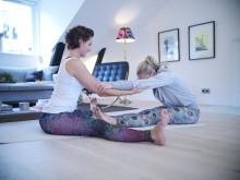 Yoga och träna tillsammans