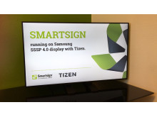 Smartsign at the forefront with Samsung's Tizen screens