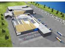 Hovedlayout af ArcusGruppens nye produktions- og distributionslager i Gjelleråsen - Vectura AS