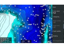 Hi-res image - C-MAP - Genesis Blue-scale Contours