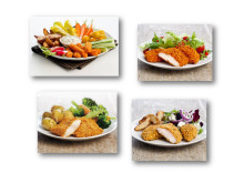 Serveringsforslag med Crispy fish og kylling