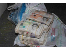 Op Quadrant Bundles of cash seized by HMRC 1