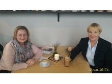 Olga Roditeleva from ICF Russia visiting Stockholm and meeting up with Barbro Iverstam Nyberg, ICF Sweden