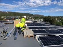 Arbeid på solanlegg El-Team