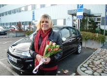 Monica Sjöberg sprang Tjejmilen och vann en Citroën C3