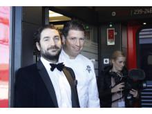 Stjärnkocken Pontus Frithiof och hans sommelier Mario E Moroni