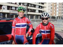 Tobias Foss og Erlend Blikra under sykkel-VM 2014