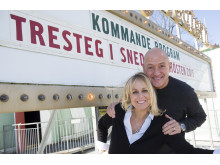 """Annika Andersson, Thomas Petersson """"Tresteg i Snedsteg"""" Lisebergsteatern 2015"""