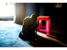 Ihisa, 12 år, från Sydsudan bor ensam med sina fyra syskon.