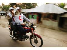 Cyklonvarning från motorcykel