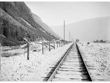 Jernbanen ved Otta i 1914.