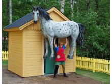Pippi flyttar in i Nya Villa Villekulla