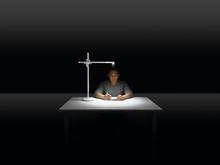 Dyson Lampe de bureau Lightcycle_blanc/argent_mode de travail