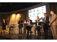 Paneldebatt under seminariet Gröna material är inte alltid hållbara på Nordbygg