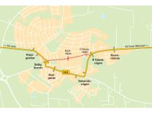 Karta Dalby ny färdväg 161