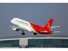 Hi-res image - Cobham SATCOM - Shenzhen Airlines A320 departs Guangzhou Baiyun International Airport