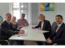 Unterschrift Konzessionsvertrag Petershausen