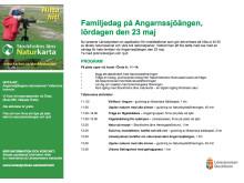 Program för lördagens lansering av Naturkartan Stockholms Län - Familjedag på Angarnssjöängen
