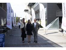 tf Generalsekreterare för Project Playground Susanna Johansen, HKH Prinsessan Sofia och Bo Nilsson, Gränslösa Möten