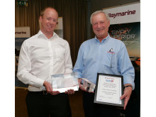 Hi-res image - Fischer Panda UK - David Melville from Fischer Panda UK presents the Fischer Panda award for the Newly Certificated Electrical Technician of the Year to Henry Castledine of Berthon Boat Co