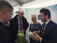 Olje- og energiminister Tord Lien i samtale med LOS Energy på ZEROexpo