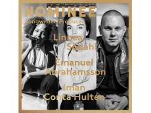 Linnea Södahl, Emanuel Abrahamsson och Iman Conta Hultén