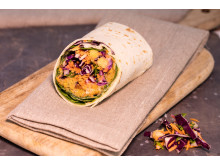 Sweet Potato Falafel Rainbow Wrap