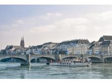 Schifffahrt auf dem Rhein in Basel.  Copyright: © Basler Personenschifffahrt AG.