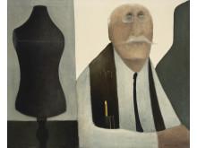 """Albert Bertelsen: """"Skrædderen"""". Signeret Albert 73. Olie på lærred. 81 x 100 cm. Vurdering: 50.000 kr."""
