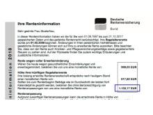 Muster einer Renteninformation