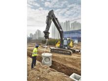 Volvo EC250E grävmaskin i arbete