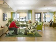 Humana äldreboende i Gävle - ljuset i vardagsrummet
