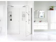 Gustavsberg Shower doors Square in line