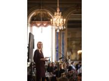 Stina Honkamaa-Bergfors, talare vid seminariet Ungt Ledarskap 2014.