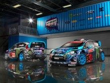 Ken Blockin Fiesta ST kilpa-autotalli