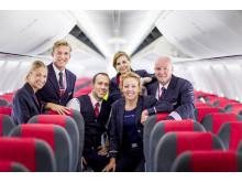 Norwegians besättning ombord en Boeing 737-800