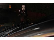 Halloween - knapt synlig for bilister