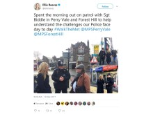 Ellie Reeves tweet