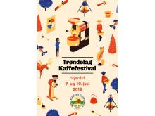 Trøndelag kaffefestival 2018, plakat