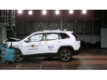 Jeep Cherokee frontal offset impact October 2019