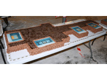 Sjokoladekaken var formet som Bøler skole